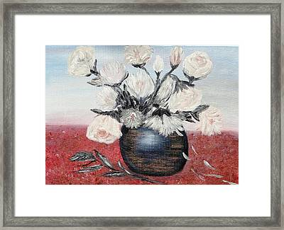 Immaculates Framed Print by Corina Blejan Lupascu