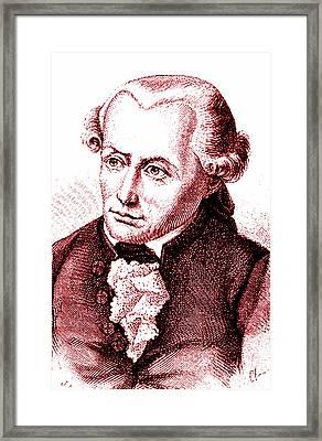 Immanuel Kant Framed Print