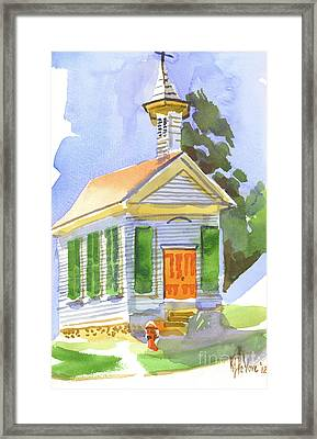 Immanuel Lutheran Church In May Sunshine Framed Print by Kip DeVore