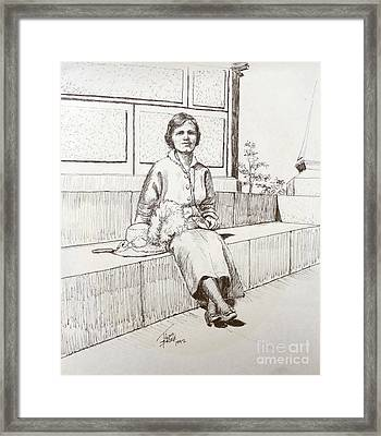 Immigrant 1920s Framed Print