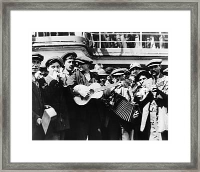 Immigrant Band, C1905 Framed Print by Granger