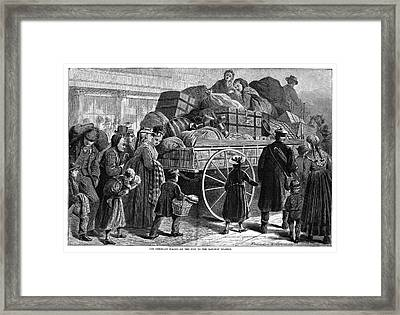 Immigrant Wagon, 1873 Framed Print by Granger