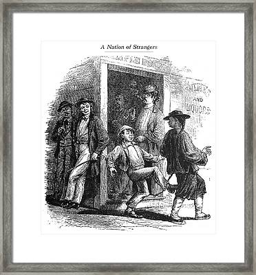 Immigrants: Chinese, 1870s Framed Print by Granger