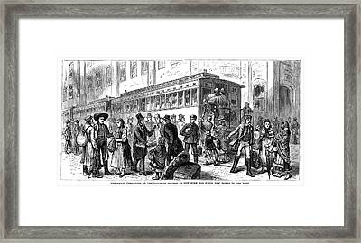 Immigrants New York, 1880 Framed Print by Granger