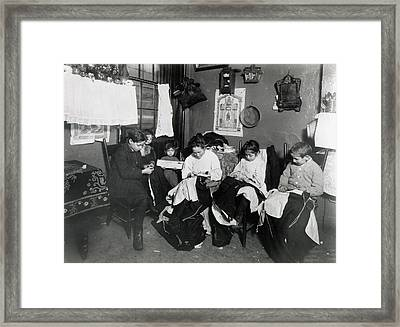 Immigrants Piecework Framed Print by Granger