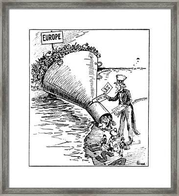 Immigration Cartoon, 1921 Framed Print by Granger