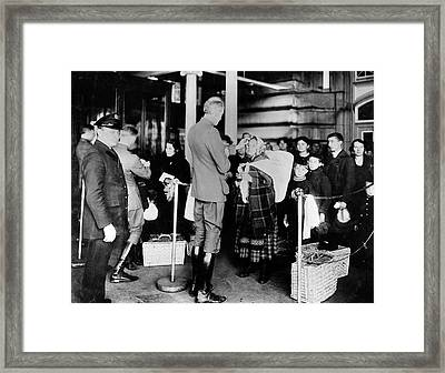 Immigration Health Checks Framed Print by National Institutes Of Health