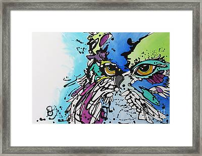 Framed Print featuring the painting Immutable by Nicole Gaitan