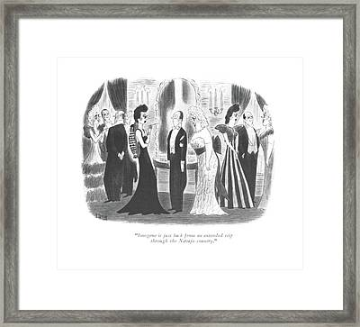 Imogene Is Just Back From An Extended Trip Framed Print