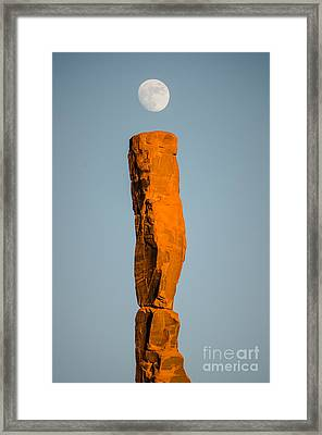 Framed Print featuring the photograph iMoon by Jeff Kolker