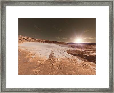 Impact Crater On Mars Framed Print
