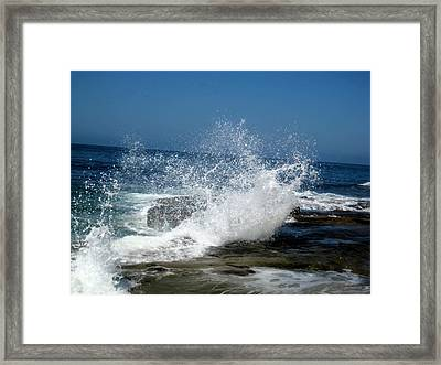 Impact Of The Sea Framed Print