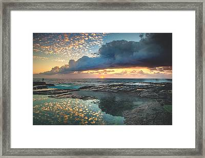 Impact On The Shore Framed Print by Mark Lucey