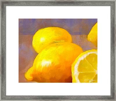 Impasto Lemons Framed Print