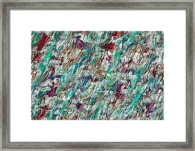 Framed Print featuring the digital art Impasto Strokes  by Mary M Collins