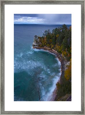 Impending Storm At Miner's Castle Framed Print