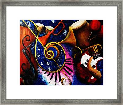 Imperfect Fusion Framed Print by Migdalia Bahamundi