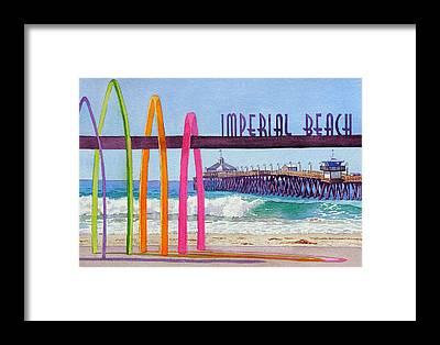 Beach Towns Framed Prints