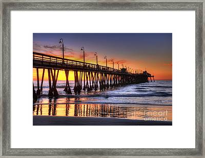 Imperial Beach Pier Framed Print by Eddie Yerkish