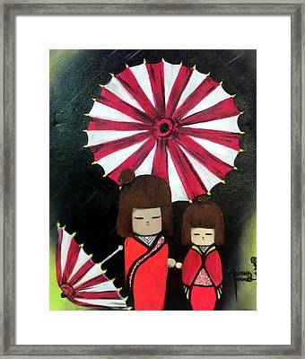 Imperial Dolls Framed Print by Ohso Faboolus