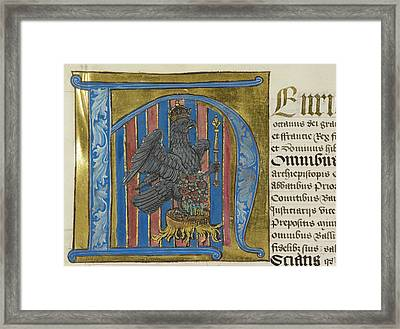 Imperial Falcon Inside Decorated Initial Framed Print