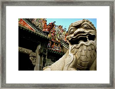 Imperial Guardian Framed Print by Kevin Hutson