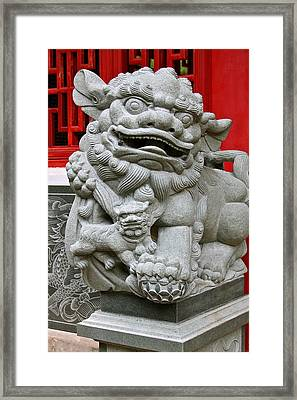 Imperial Guardian Lioness  Framed Print