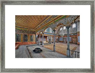 Imperial Hall Of Harem In Topkapi Palace Framed Print by Ayhan Altun