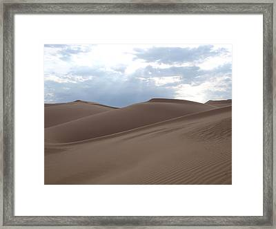 Imperial Sand Dunes Southern California Framed Print