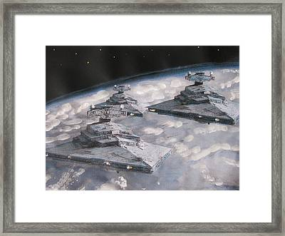 Imperial Star Ship Destroyers Framed Print