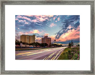 Imperial Sugar Factory At Rush Hour Framed Print