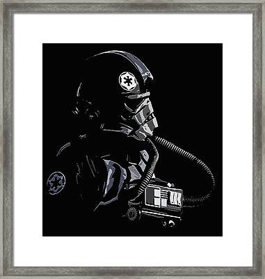Imperial Tie  Pilot 2 Framed Print