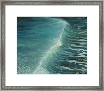 Impetus Summer Wave Framed Print by Kiril Stanchev