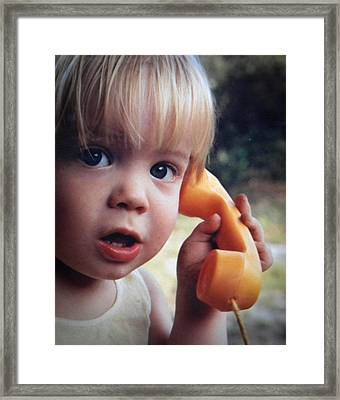 Important Call Framed Print