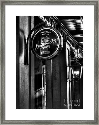 Imported Irish Ale Framed Print by Mel Steinhauer