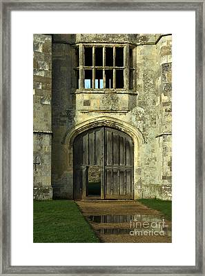 Imposing Front Door Of Titchfield Abbey Framed Print by Terri Waters