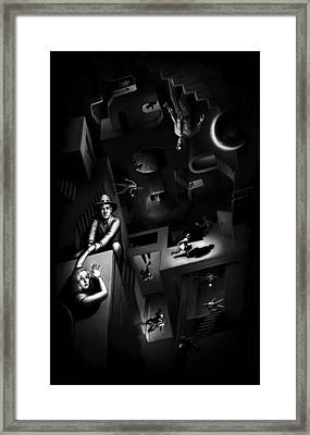 Framed Print featuring the digital art Impossible Chase by Ben Hartnett