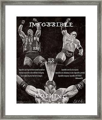 Impossible Is Nothing Framed Print