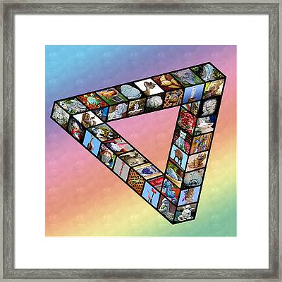 Impossible Triangle Of House And Garden Decorations - Aoc14 Framed Print