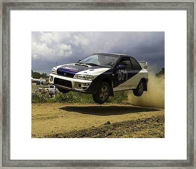 Impreza In Flight Framed Print
