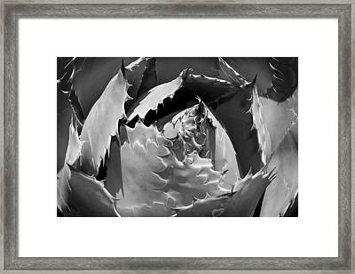Impression Black And White Framed Print by Kelley King