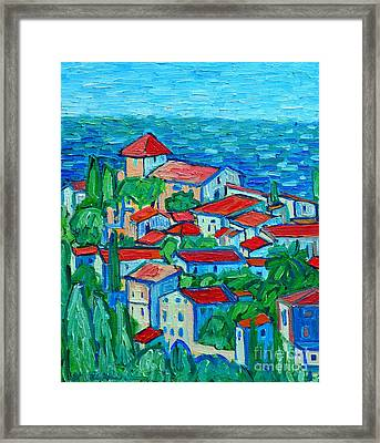 Impression From Mallorca Framed Print by Ana Maria Edulescu