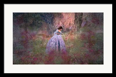 Updo Digital Art Framed Prints
