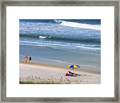 Impression Of A Day At The Beach Framed Print by Dave Bosse