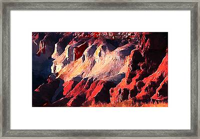 Impression Of Capitol Reef Utah At Sunset Framed Print