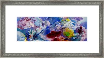 Impression Of  Flowers Framed Print by Donna Acheson-Juillet