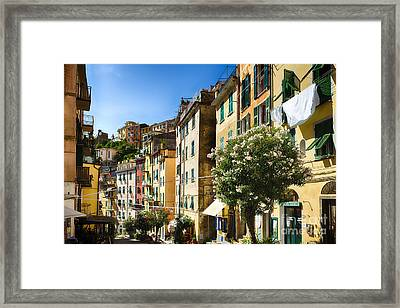 Impression Of Riomaggiore Framed Print by George Oze