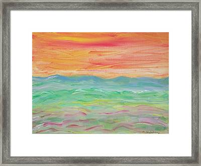Framed Print featuring the painting Impression Of Summer by Martin Blakeley