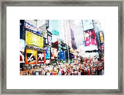 Impression Of Times Square Framed Print