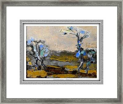 Framed Print featuring the painting Impression by Pemaro